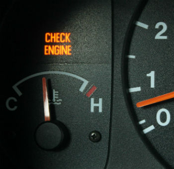 check engine горит